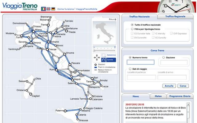 Hai visto? Viaggia Treno: orari dei treni in tempo reale