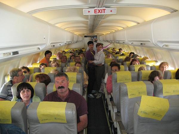 pellegrinaggio a Lourdes in aereo