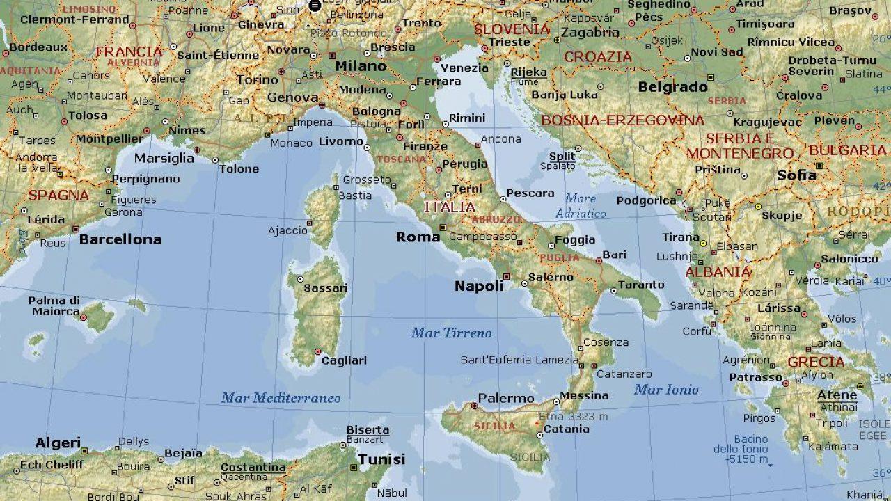 Cartina Italia Bambini.Una Cartina Geografica Dell Italia Per I Bambini