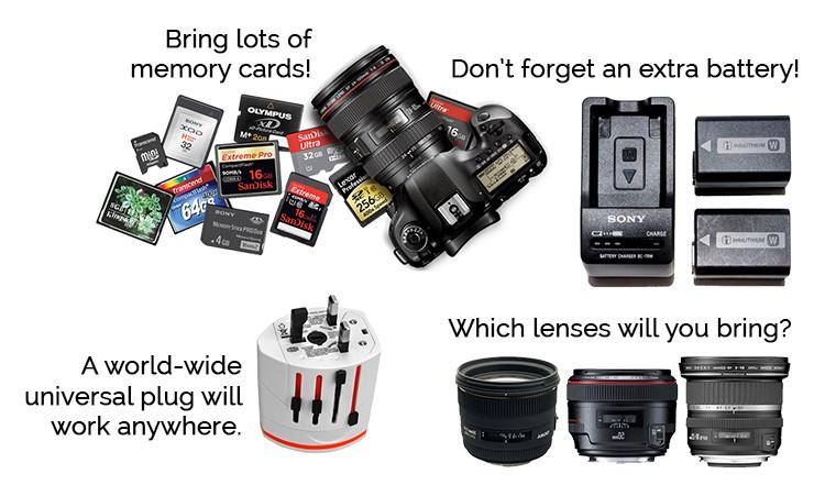 accessori macchina fotografica da portare in viaggio