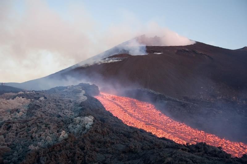 Vulcano Etna in attività