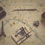Cartina geografica per segnare i luoghi visitati