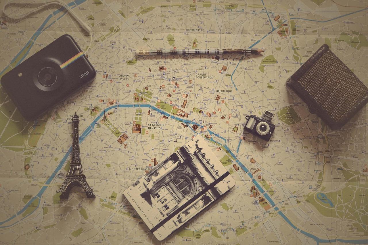 Carta Geografica per segnare i luoghi visitati